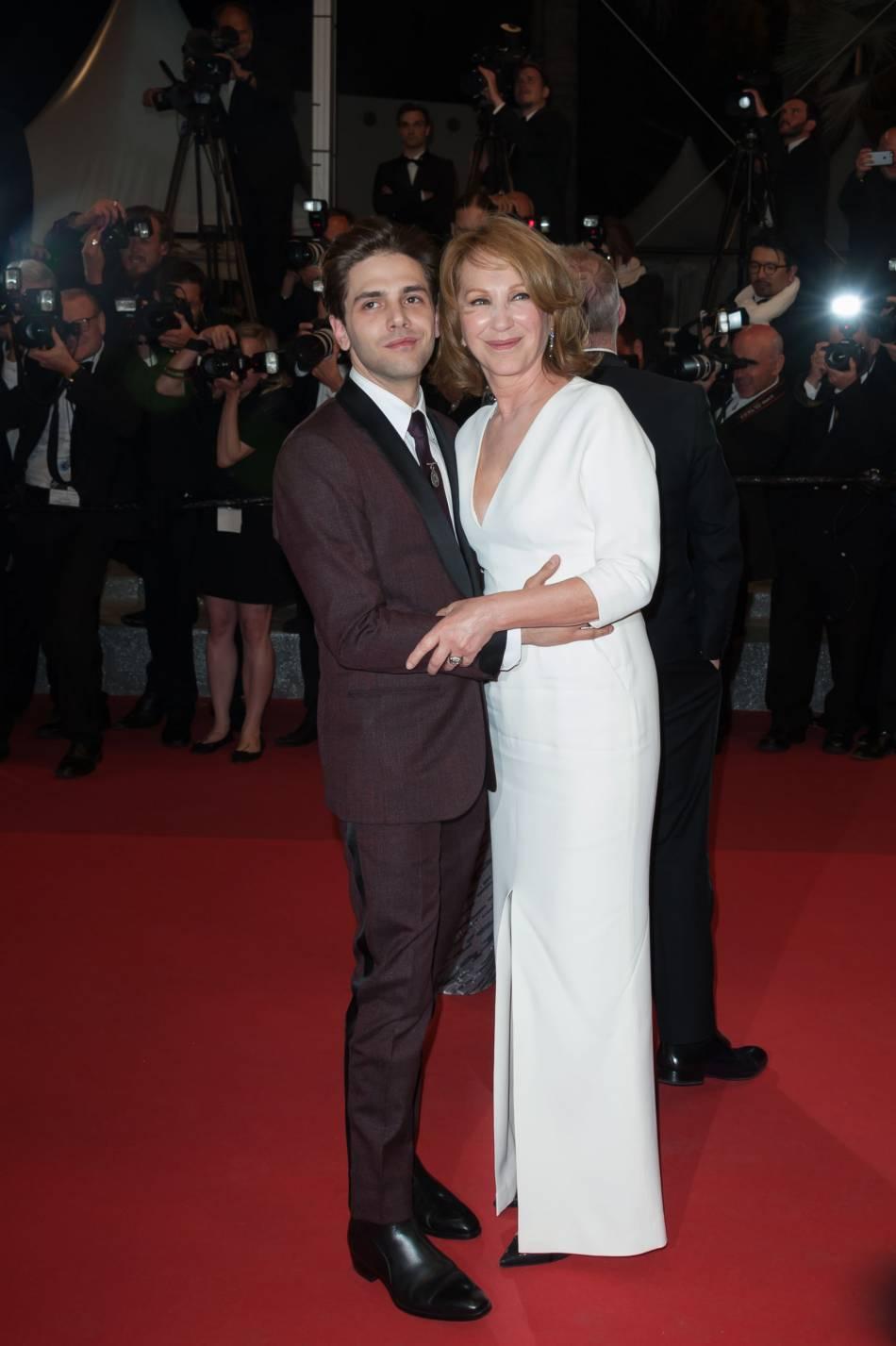 Nathalie Baye et Xavier Dolan ont également partagé un moment complice sur le red carpet.