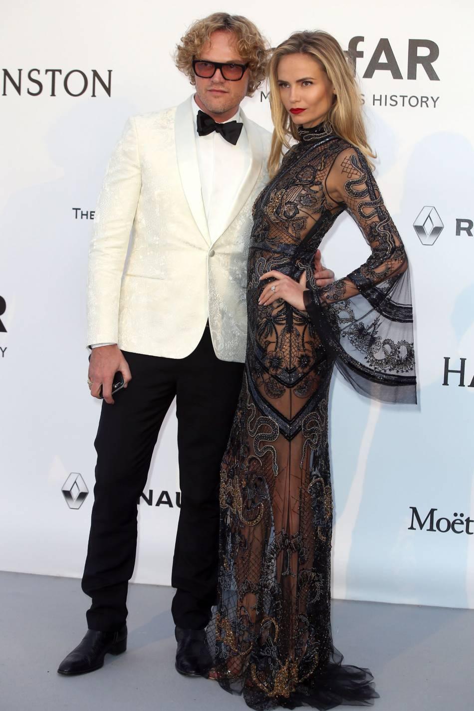 Peter Dundas et Natasha Poly en Roberto Cavalli au gala de l'amfAR Cinema against AIDS le 19 mai 2016 à Cannes.