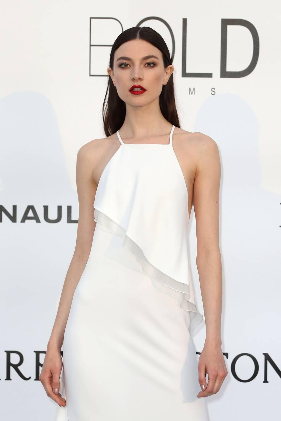 Jacquelyn Jablonski au gala de l'amfAR Cinema against AIDS le 19 mai 2016 à Cannes.