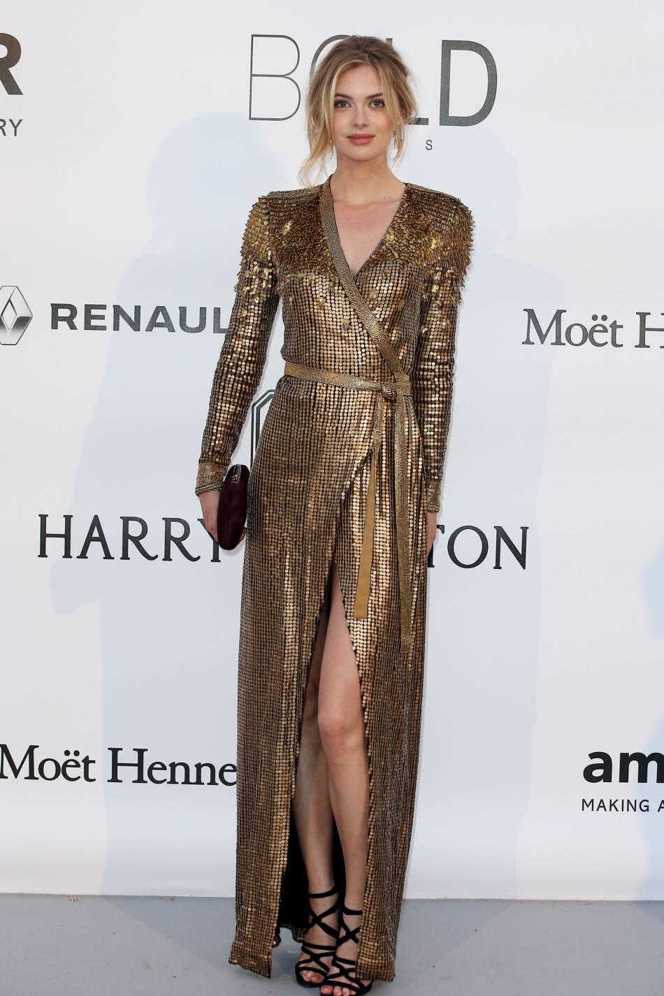 Megan Williams au gala de l'amfAR Cinema against AIDS le 19 mai 2016 à Cannes.