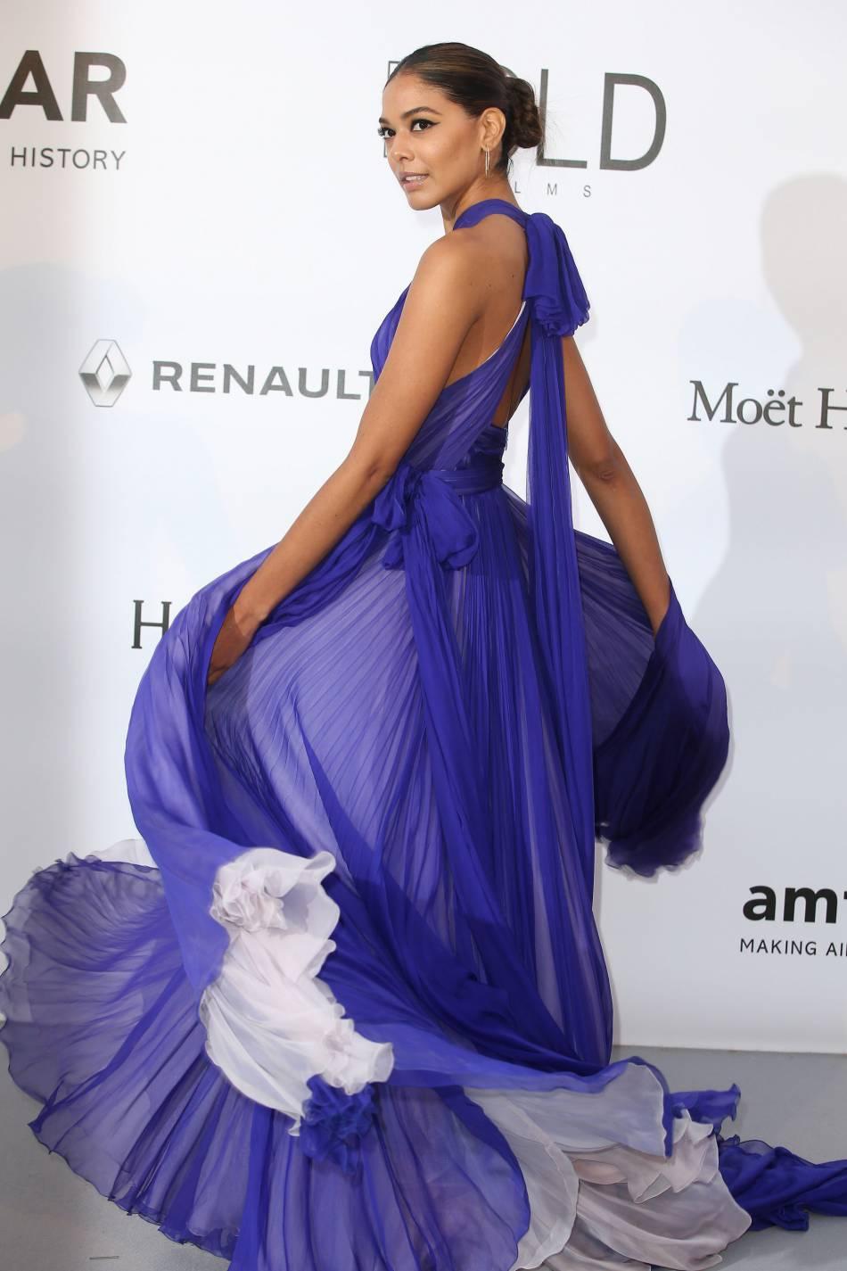 Heidy de la Rosa au gala de l'amfAR Cinema against AIDS le 19 mai 2016 à Cannes.