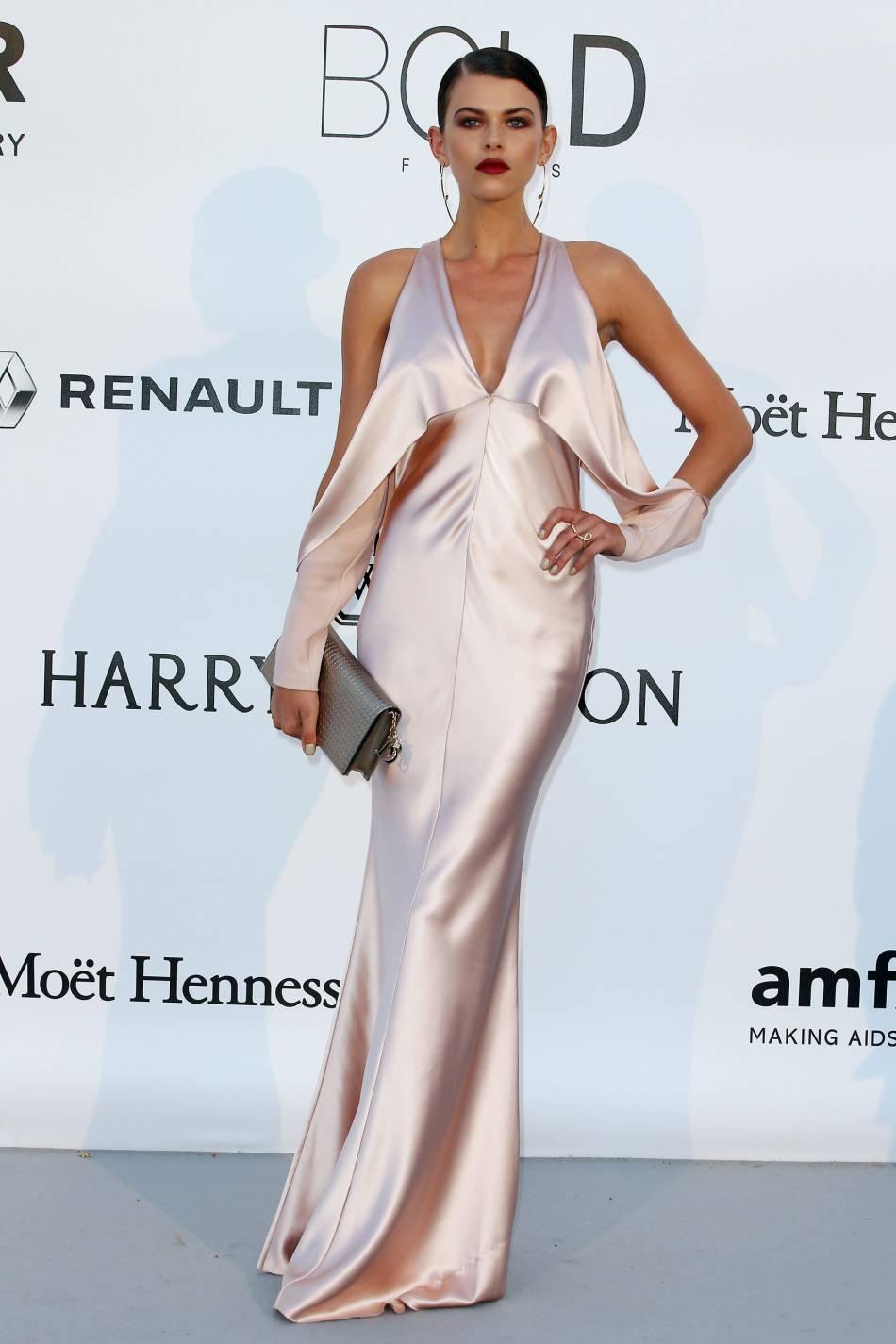 Georgia Fowler au gala de l'amfAR Cinema against AIDS le 19 mai 2016 à Cannes.
