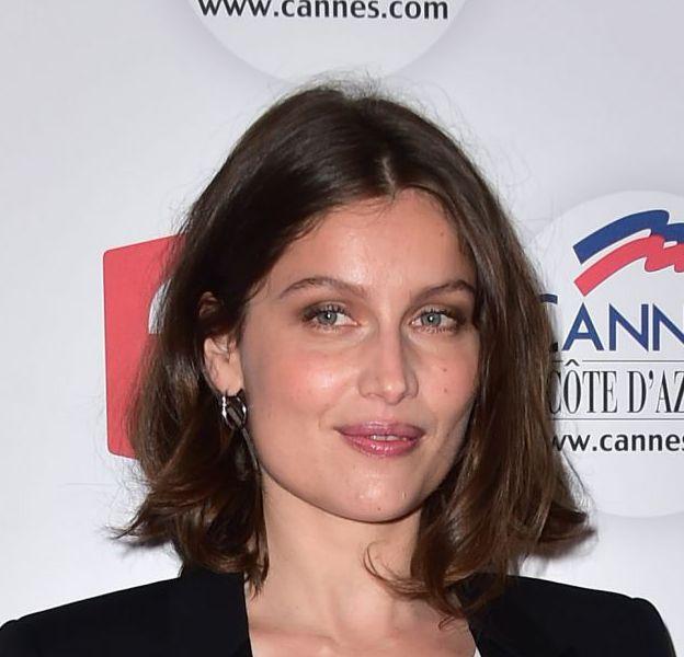 """Laetitia Casta pose pour le photocall de l'émission spéciale Cannes d'""""On est pas couché"""" diffusé ce samedi 21 mai 2016 à partir de 22h50."""