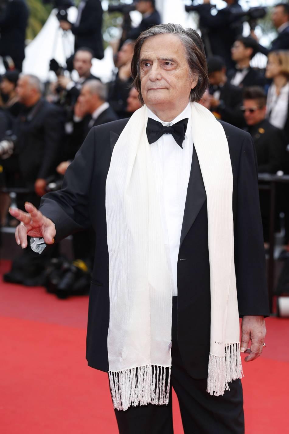 L'acteur Jean-Pierre Léaud lors de la dernière montée des marches du 69e Festival de Cannes.