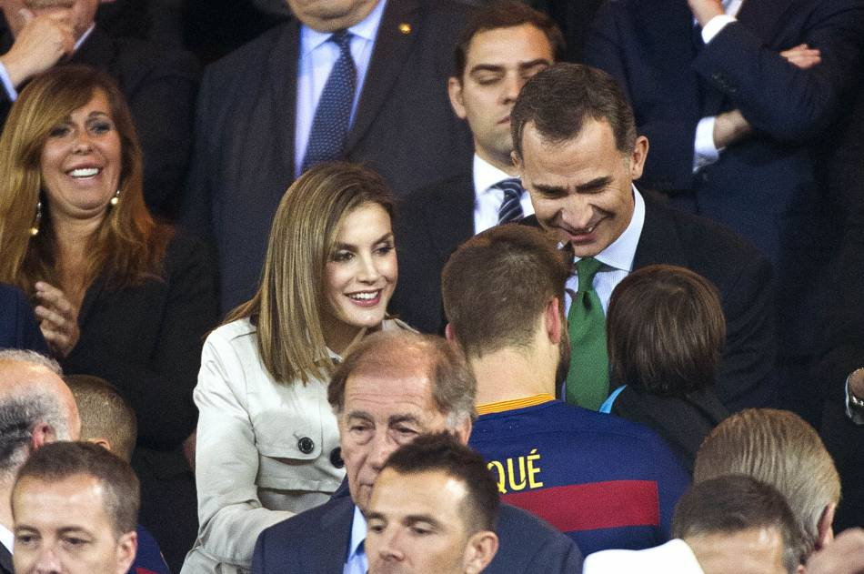 Le couple royal d'Espagne a assisté à la finale de la Copa del Rey pour leur anniversaire de mariage.