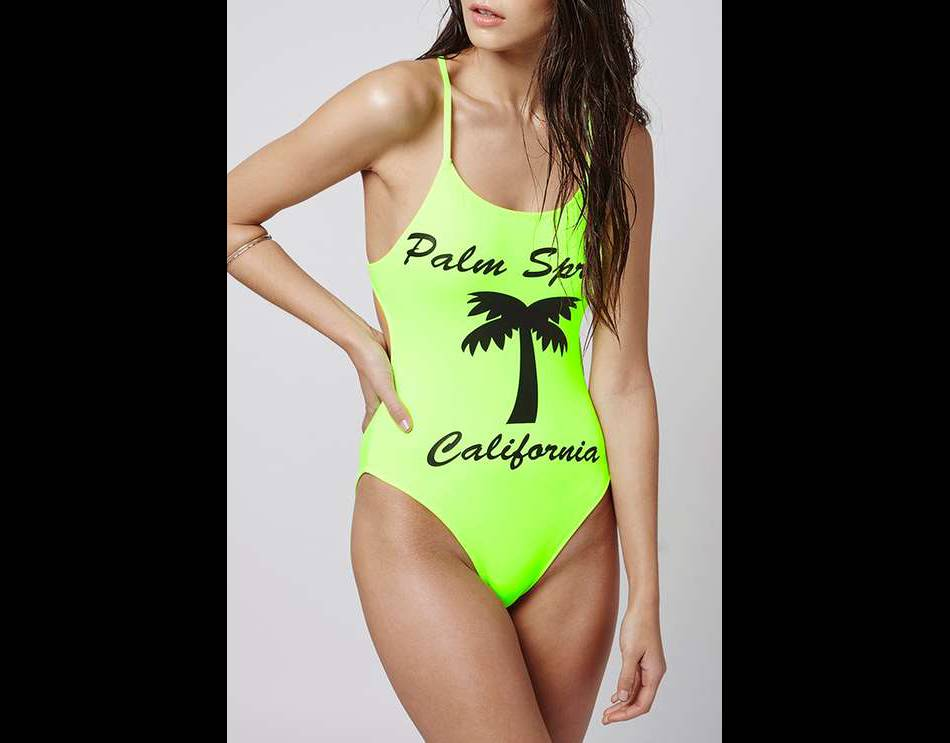Maillot fluo, Topshop, 38€....