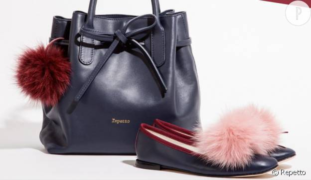 Un pompon de sac (95€) ou des ballerines girly (225€) de la collection Repetto Fête des mères.