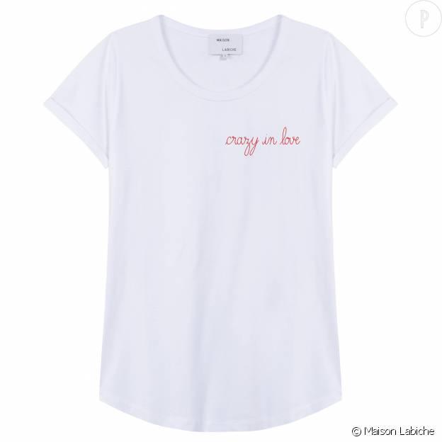 T-shirt personnalisé, Maison Labiche, 55€.