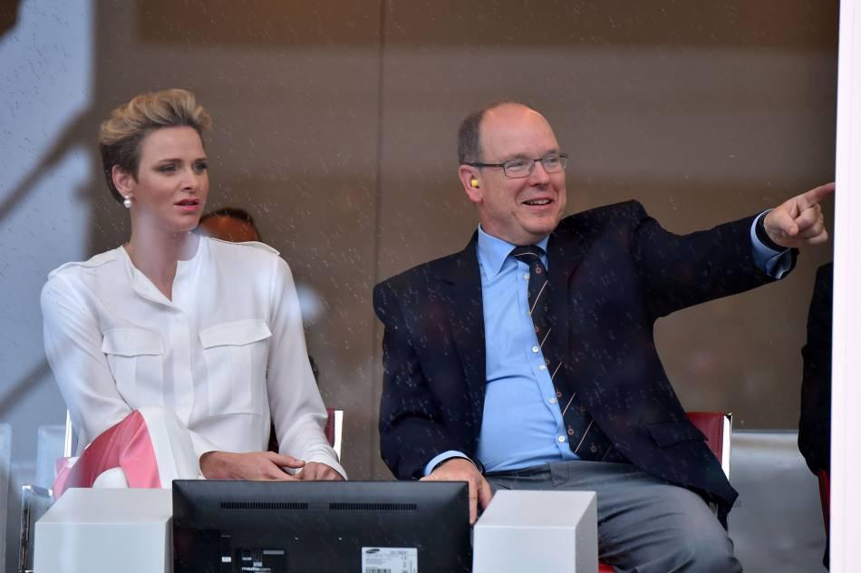 Charlène de Monaco et Albert, deux passionnés de sport, au Grand Prix de F1 à Monaco, le 29 mai 2016.