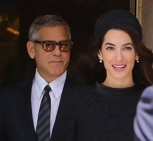 """George et Amal Clooney à la pointe du style : couple """"présidentiel"""" à Rome"""
