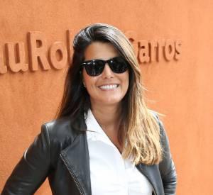 Karine Ferri était rayonnante ce week-end au village de Roland-Garros.