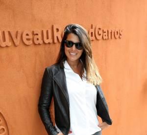 Karine Ferri est une jeune maman rayonnante et au top de sa forme à Roland-Garros.