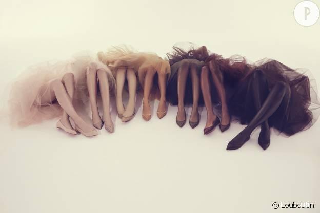 Depuis 2013, la marque de luxe Louboutin propose des ballerines nude pourtous les types de peau.