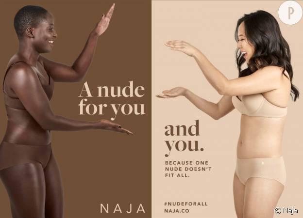 """La marque Naja propose jusqu'à sept teintes différentes pour sa gamme de sous-vêtements """"Nude for all""""."""