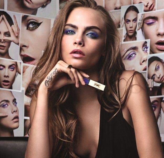 YSL a choisi la top Cara Delevingne pour incarner sa gamme de Mascara Vinyl Couture.