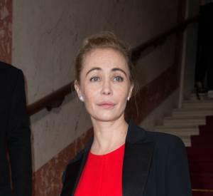 Emmanuelle Béartà la 41ème cérémonie des César au théatre du Chatelet à Paris le 26 février 2016.