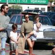 Kourtney Kardashian et Scott Disick en vadrouille avec leurs enfants.