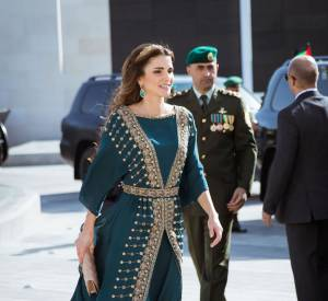 Rania de Jordanie lors de la cérémonie du centenaire de la grande révolte arabe.