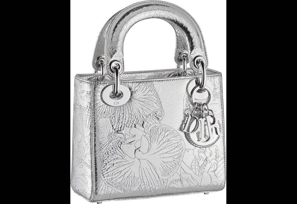 meilleur frais frais promotion spéciale Dior x Marc Quinn, le sac au cuir argenté - Puretrend