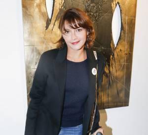 Emma de Caunes à Paris le 20 octobre 2015. Sa fille Nina est le fruit de son amour pour le musicien Sinclair, avec qui elle a été en couple plus de dix ans.