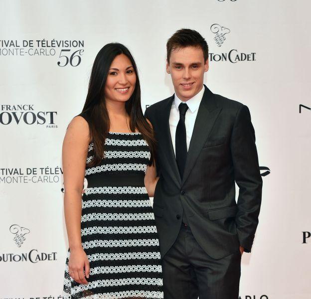 Louis Ducruet et sa compagne Marie lors de l'ouverture du 56e Festival de télévision de Monte-Carlo, le 12 juin 2016.
