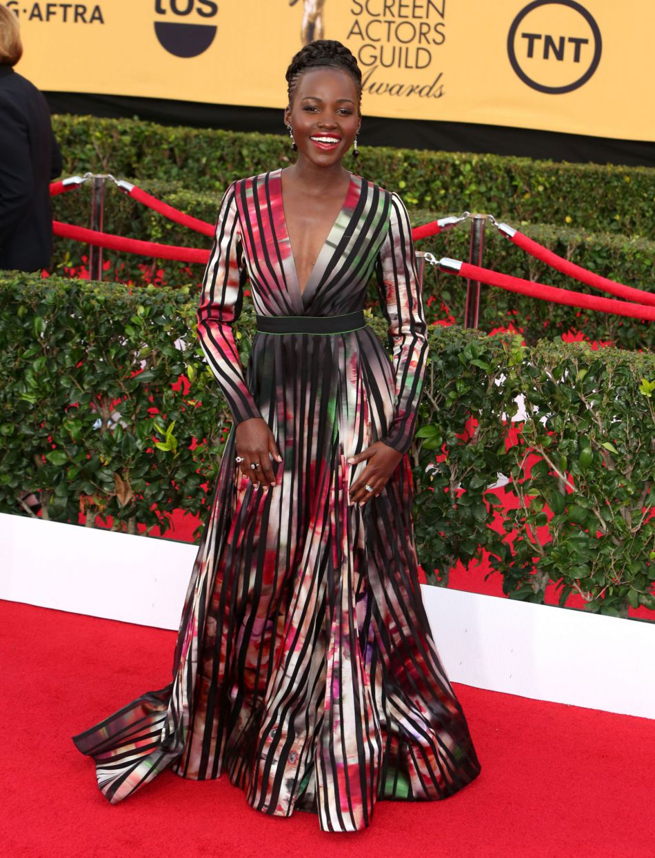 Lupita Nyong'o lors des  Screen Actors Guild Awards à Los Angeles en janvier 2015.