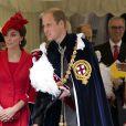 Kate Middleton lors de la cérémonie Order of the Garter au Château de Windsor le 13 juin 2016.