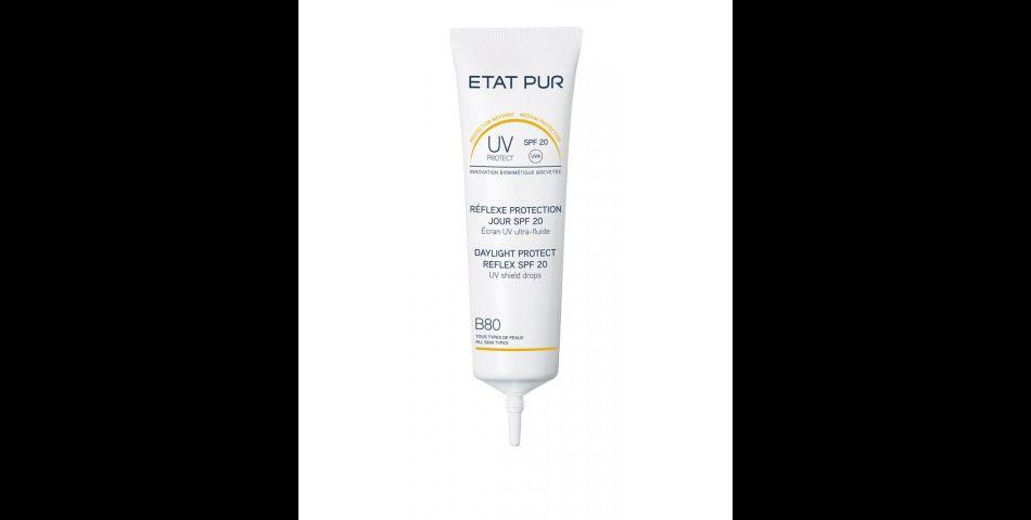 Soin crème qui se transforme en huile pour une protection quotidienne aux UV, Etat Pur, 18€.