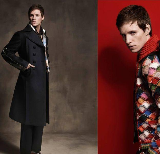 Eddie Redmayne, l'acteur de référence prête son charisme atypique à la collection automne-hiver 2016 de Prada.
