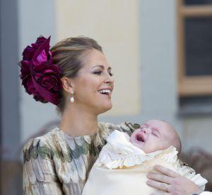 Madeleine et son fils le prince Nicolas, le jour de son baptême.