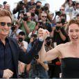 Benoît Magimel et Emmanuelle Bercot à Cannes, en mai 2016.