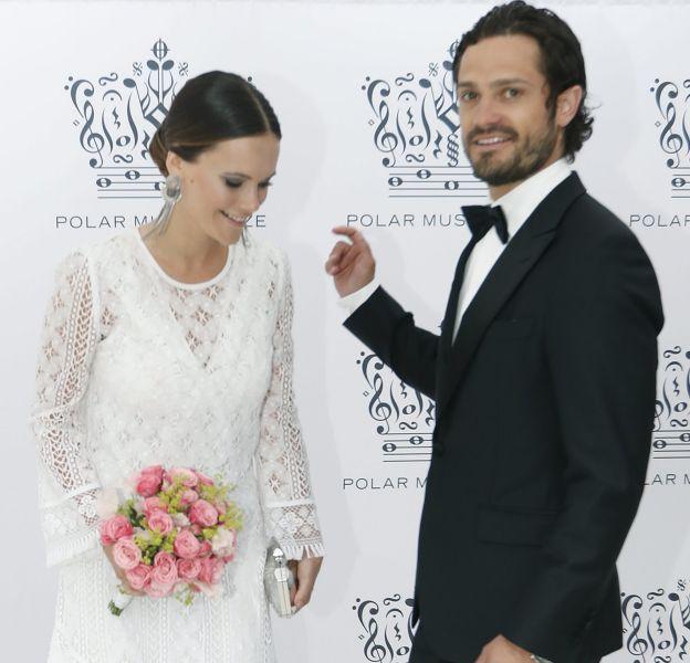 Sofia et Carl Philip de Suède lors des Polar Music Prize, le 16 juin 2016.