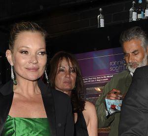 Kate Moss : look émeraude pour l'icône à Londres