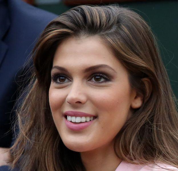 Iris Mittenaere à Roland Garros en mai 2016.