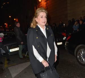 """Catherine Deneuve fait ses adieux aux """"Petit Journal""""dont c'était la dernière hier soir sur Canal+."""
