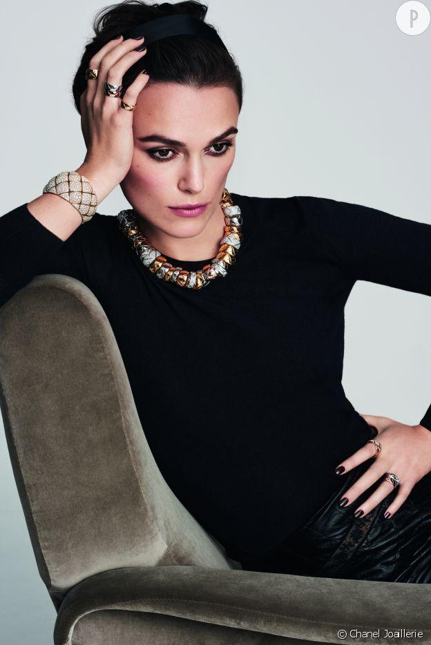 "Keira Knightley est la nouvelle égérie de la collecion ""Coco Crush"" de Chanel Joaillerie."