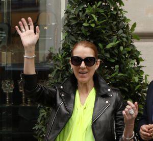 Céline Dion : épatante en cuir et robe fluo pour saluer ses fans français