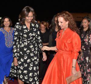 Michelle Obama et Lalla Salma du Maroc, bataille de looks sur le tarmac