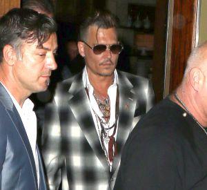 Johnny Depp s'est rendu au restaurant en compagnie de ses enfants Lily-Rose et Jack le 29 juin.