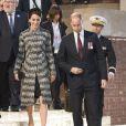 La duchesse avait opté pour un manteau Missoni.