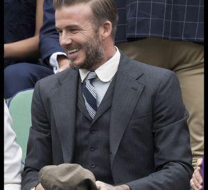 David Beckham est arrivé dans un costume trois pièces pour assister au sixième jour de la compétition de tennis.