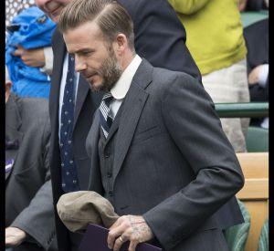 D'une élégance anglaise irréprochable, David Beckham portait fièrement le costume trois pièces.