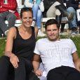 Laure Manaudou profite d'un moment détente avec son frère, le champion olympique Florent Manaudou, au GPA Jump Festival.