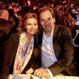 Ingrid Chauvin au concours Top Model Belgium, en compagnie de son mari, le réalisateur Thierry Peythieu.