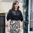 Marion Cotillard printanière dans son total look Dior.