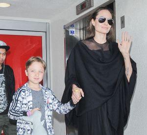 Angelina Jolie avec ses fils Knox et Maddox en juin 2016.