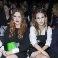 Elodie Frégé et Dylan Frances Penn au premier rang du défilé de mode Armani collection prêt-à-porter Printemps-Eté 2017.