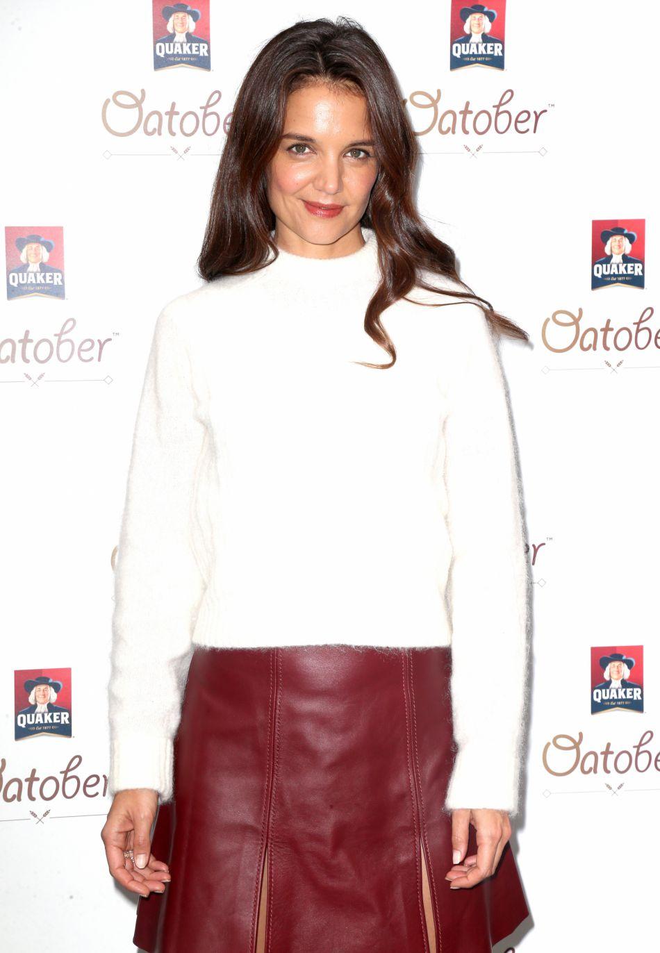 """Katie Holmes, assiste au lancement de la campagne """"Quaker's Oatober"""", le 3 octobre 2016 à New York"""