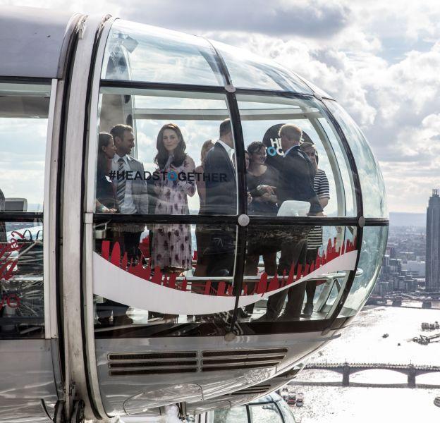 Kate Middleton prend de l'altitude sur le London Eye.