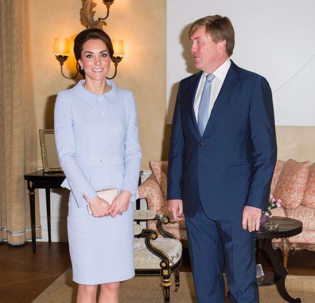 Le roi des Pays-Bas est tombé sous le charme de Kate Middleton.